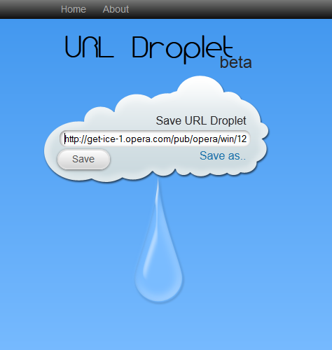 paste the url link to drop file to dropbox